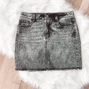 NWOT Arizona Black Acid Wash Denim Mini Skirt